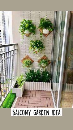 Small Balcony Design, Small Balcony Garden, Small Balcony Decor, Balcony Plants, House Plants Decor, Indoor Plants, Balcony Ideas, Balcony Decoration, Indoor Balcony