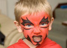 Trucco di Halloween per bambini da diavoletto
