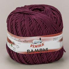 Pletací / háčkovací příze Vlnika BAMBUS 316 vínová, jednobarevná, 50g/160m Knitted Hats, Knitting, Fashion, Tatoo, Moda, Tricot, Fashion Styles, Breien, Stricken