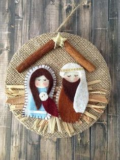 Excited to share the latest addition to my shop: Nativity Ornament / Christmas Nativity Ornament / Christmas Tree Ornament / Nativity Xmas Decoration / Handmade and Design in Felt - Burlap Nativity Ornaments, Nativity Crafts, Felt Christmas Ornaments, Christmas Nativity, Noel Christmas, Handmade Ornaments, Christmas Crafts For Kids, Christmas Projects, Holiday Crafts