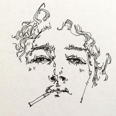 Gcse Art Sketchbook, Wow Art, Sketch Inspiration, Hippie Art, Art Drawings Sketches, Crayon, Pretty Art, Portrait Art, Art Inspo