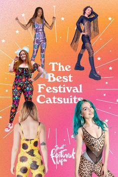20 Outrageous Festival Catsuits •That Festival Life • Worldwide Festival Blogger Festival One, Festival Style, Festival Wear, Festival Fashion, Unitards, Favourite Festival, Custom Ties, Spandex Material, Fast Fashion
