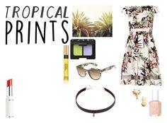 """Tropical Prints"" by giulia-ostara-re ❤ liked on Polyvore featuring Dorothy Perkins, Seoul Little, Lancôme, Essie, NARS Cosmetics, Arizona, LULUS, tropicalprints and hottropics"