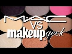 """DUPES :: MAC vs Makeup Geek Eyeshadow SMACKDOWN :: CLICK """"Visit makeupgeek.com"""" for a list (WITH PIX) of all the Makeup Geek dupes for MAC"""