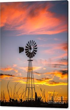 Desert Canvas Print featuring the photograph Southwest Windmill by Robert Bales