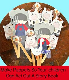 Create puppets to go along with your favorite children's books so your kids can act out the story as you read it (Capri + 3-Love Books Summer Exchange)