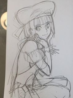 #Dessin #Croquis crayon par imozuka #Manga