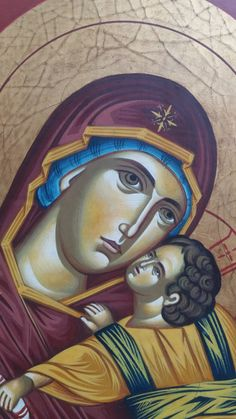Virgin Mary and the Holy Infant.Christian orthodox by myBlueBrush