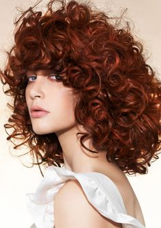 Dark Auburn/ Copper Red hair -     Beautiful curly hairstyle