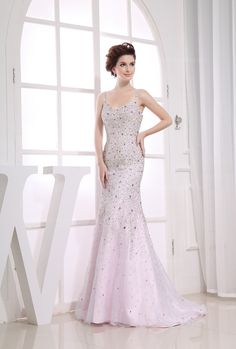 Fabulous Spaghetti Straps Fully Beaded Dress