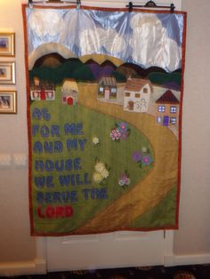 Church banner made by the ladies in the craft group.