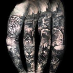 Hogwarts sleeve tattoo by Chris Showstoppr ##Tattoos - psyk02mikmak07 - Google+