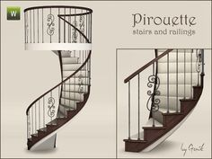Gosik's Pirouette spiral stairs and railings