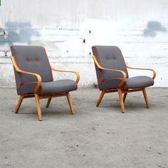 J'ai le grand plaisir de vous montrer le fruit de notre travail de ces derniers temps. Cette fois là, nous avons des fauteuils de formes différentes de ce qu'on avait jusqu'à présent. Cela nous a donné de nouvelles idées, de nouveaux défis et toujours... Accent Chairs, Armchair, Furniture Design, Mid Century, Sofa, Interior Design, Architecture, Mille, Inspiration