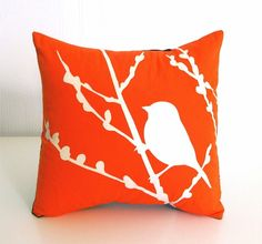 Orange Bird on Cherry Blossom  Mini 105 Inches Square by joom, $16.00