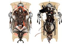 Again a very cool mdern take on art Nouveau