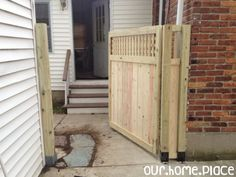 Our.Home.Place | Building a modern and stylish custom sized Gate - DIY