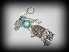 Bohemian key chainturquoise key ringboho key by FabJeweLLerYY