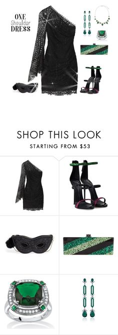 """""""outfit 5011"""" by natalyag ❤ liked on Polyvore featuring Emilio Pucci, Giuseppe Zanotti, Kate Spade, Edie Parker, Palm Beach Jewelry, Fabio Salini and Ben-Amun"""