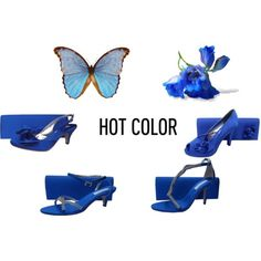 Royal Blue Evening Shoes and Matching Bags by sole-divas on Polyvore featuring WeddingShoes and eveningshoes