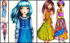 TopModel designs collage