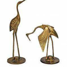 Vintage Brass Sea Birds