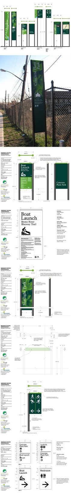 Bronx River Greenway Signage on Behance