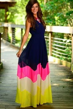 Adorable chevron maxi