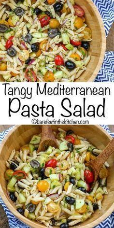 Italian Pasta Salad - get the recipe at barefeetinthekitc. Italian Pasta Salad - get the recipe at Penne Pasta Salads, Best Pasta Salad, Greek Salad Pasta, Summer Pasta Salad, Pasta Salad Italian, Pasta Dishes, Food Dishes, Pasta Salad Recipes Cold, Chicken Pasta