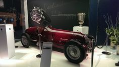 Eberhard Co's booth featured an Alfa Romeo race car which has inspired their new collection, named after Tazio Nuvolari - Baselworld 2013 Eberhard Co Swiss Watchmakers Swiss Luxury Watches, Watch Companies, Contemporary Jewellery, Alfa Romeo, Race Cars, Antique Cars, Racing, Events, Inspired