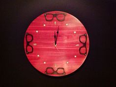 A eyewear inspired clock for a great optical shop in Sacramento. #backyardspectacles.com