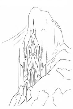 Coloring Page Frozen Palace Elsa
