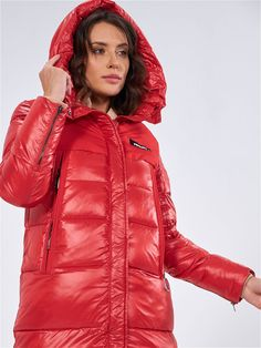 Puffy Jacket, Red Hood, Cool Girl, Dj, Jackets For Women, Winter Jackets, Womens Fashion, Sexy, Clothes