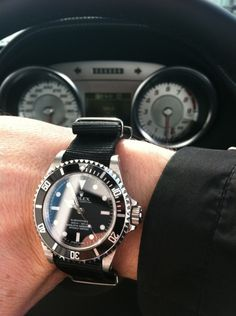 Rolex classic Submariner with a leather bracelet. Presenting the finest Men's Watches collection inspiration sharing. Best gift for men in fine suits. Michael Kors Outlet, Cheap Michael Kors, Handbags Michael Kors, Cheap Handbags, Cheap Bags, Best Watches For Men, Cool Watches, Trendy Watches, Elegant Watches