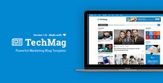 The TechMag is a modern trending responsive blog template for professional bloggers. This template comes with 25+ valid html files custom category pages, single blog, single review, single ...