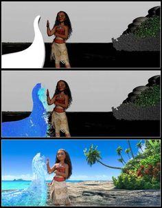 Moana CGI progression