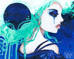 Luna the Moon Goddess 8x10 Fine Art Print by LeilaniJoyArt on Etsy