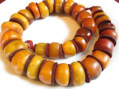 Antique Moroccan/Berber Amber Beads