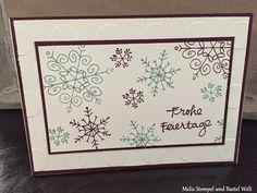 Stampin Up, Weihnachtskarte, Christmas Card, Wünsche zum Fest, In Color, Große Punkte