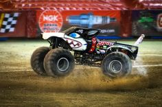 "Monster Jam Trucks — Monster Jam Trucks, Toronto: ""Spike"" makes donuts"