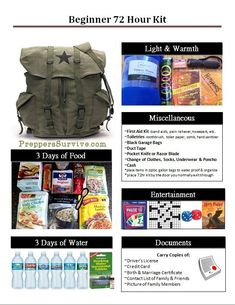 Bug Out Bag Essentials for Beginners. A Bug Out Bag is to help you leave in a crisis situation in a hurry with the basic necessities. Wilderness Survival, Survival Prepping, Survival Gear, Survival Skills, Survival Shelter, Survival Fishing, Survival Gadgets, Survival Equipment, Urban Survival