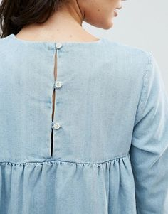 chambray shirt. | baby blue blouse | button up | casual