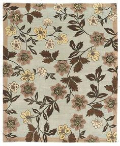 Featuring an elegant floral design and hand spun wool; the Chelsea Garden Autumn Frost transitional Oriental carpet is highly impressive. Offered in a range of charming colors, it is part of the Kotana collection by Tufenkian Rugs. http://www.cyrusrugs.com/tufenkian-rugs-james-tufenkian-item-10828&category_id=0