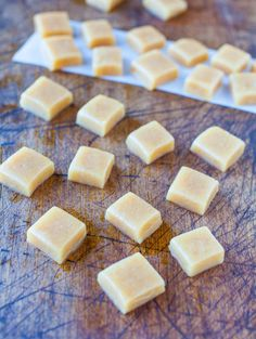 Seven minute microwave caramels. I made these last night and sprinkled them with coarse sea salt about 5 minutes after pouring. Delicious!!
