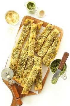 Vegan Parmesan Cheese Sticks | Minimalist Baker Recipes