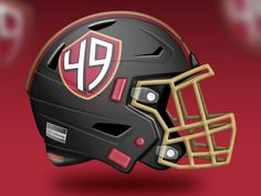 Artist Reveals Absolutely Incredible Helmet Designs For All 32 NFL Teams – Page 30 49ers Helmet, New Helmet, Helmet Logo, Notre Dame Football, Alabama Football, American Football, Oklahoma Sooners, College Football