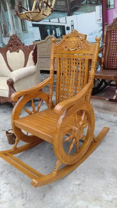 Crochet ideas that you'll love Single Door Design, Wooden Sofa Designs, Wood Table Design, Wooden Main Door Design, Room Door Design, Wooden Rocking Chairs, Wooden Sofa Set, Rustic Outdoor Furniture, Wood Carving Designs