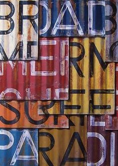 Letters workshop on painting corrugated metal? I like the way paint looks on the metal. Metal Roof, Wood And Metal, Metal Art, Metal Signage, Corrugated Tin, Metal Projects, Galvanized Metal, Industrial Chic, Restaurant Design
