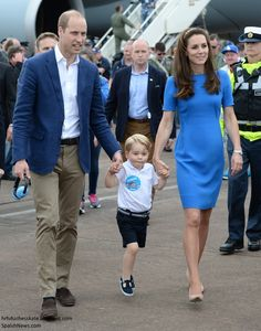 The Cambridges Take Prince George to the World's Greatest Airshow via Fashion Me Kate app