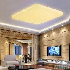 LED Dimmbar Deckenleuchte Sternenhimmel Innenleuchte Wohnzimmerlampe 50W 60W